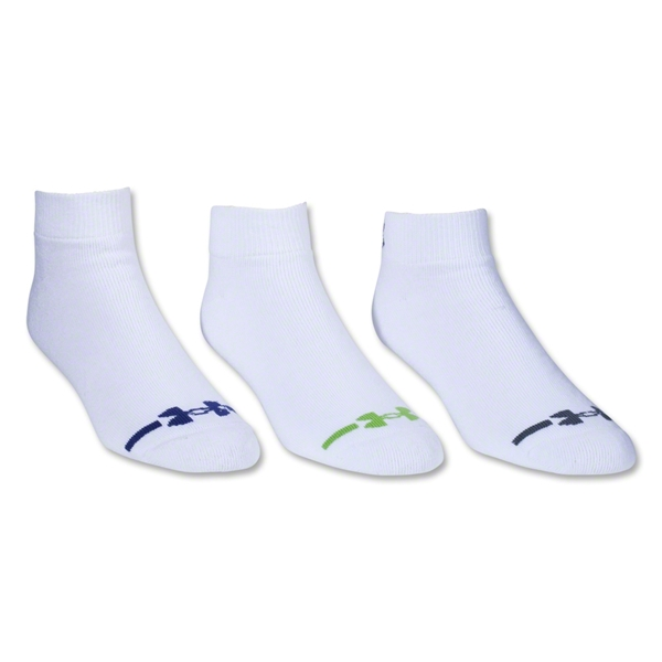 Under Armour Charged Cotton Low Cut Sock-6 Pair Pack (White)