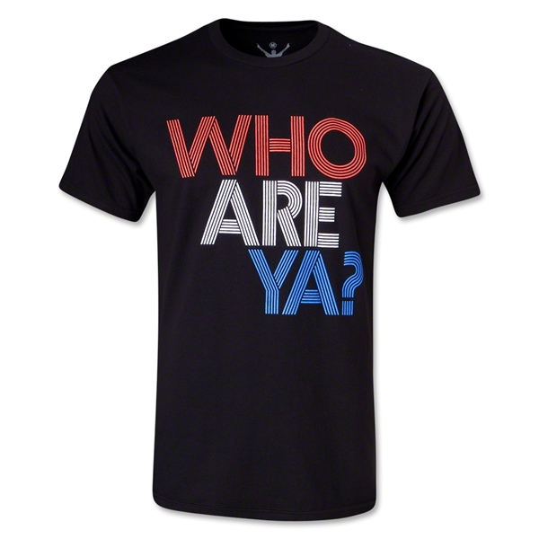 Who Are Ya? Type T-Shirt (Black)