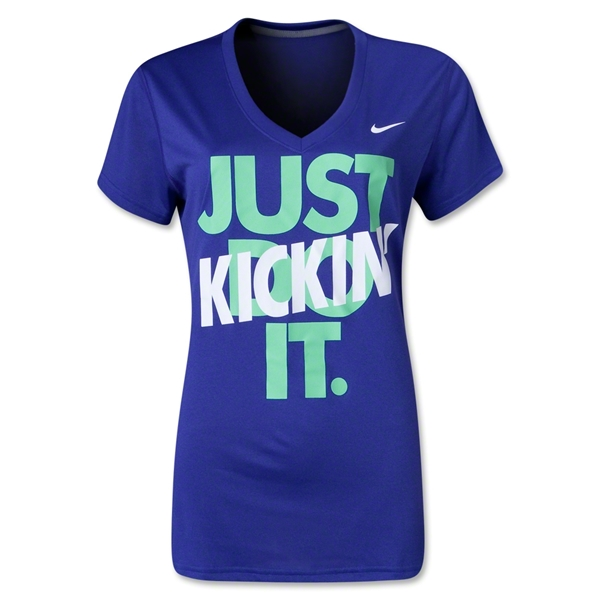 Nike Just Kickin' It Women's T-Shirt (Purple)