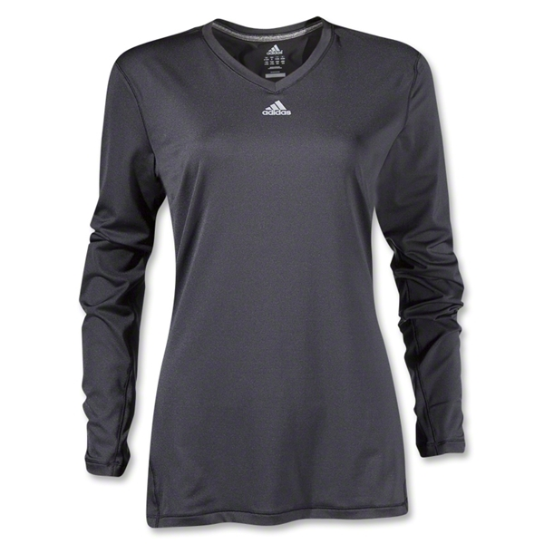 adidas Women's TechFit Long Sleeve T-Shirt (Black)