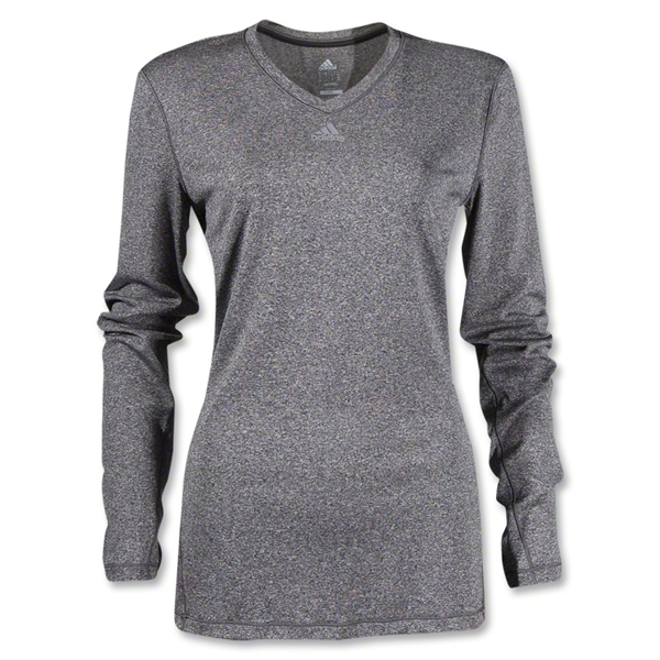 adidas Women's TechFit Long Sleeve T-Shirt (Dk Grey)