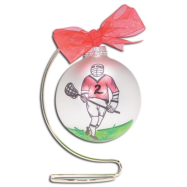 Personalized Lacrosse Ornament