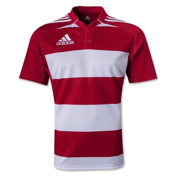 adidas Hooped Rugby Jersey (Red/White)