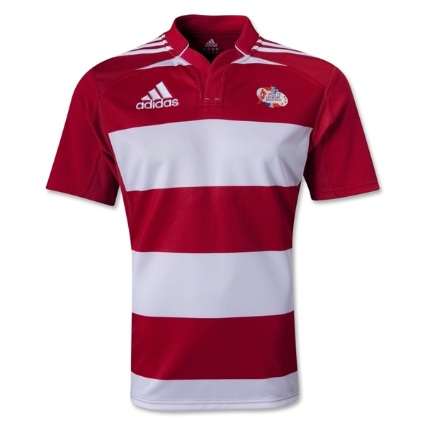 adidas Las Vegas Invitational Hooped Rugby Jersey (Red/White)