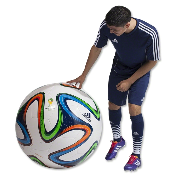 adidas 2014 Brazuca World Cup Jumbo Ball (White/Night Blue/Multicolor)