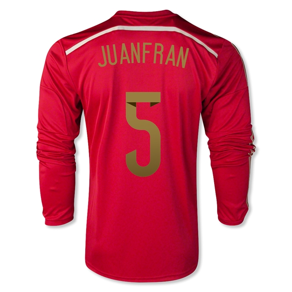 Spain 2014 JUANFRAN 5 LS Home Soccer Jersey