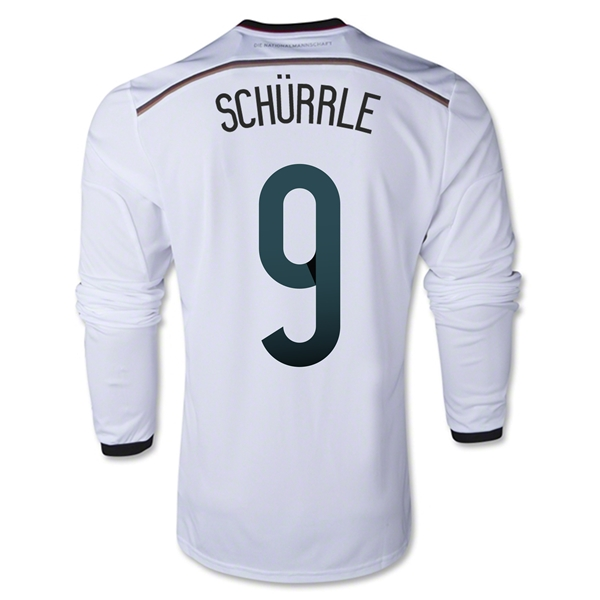 Germany 2014 SCHURRLE LS Home Soccer Jersey