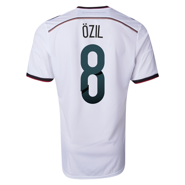 Germany 2014 OZIL Authentic Home Soccer Jersey