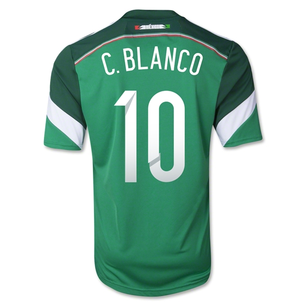 Mexico 2014 C. BLANCO Home Soccer Jersey