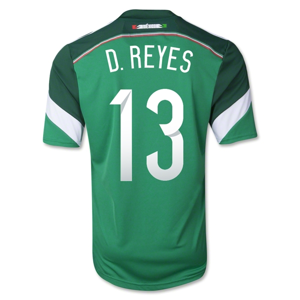 Mexico 2014 D. REYES Home Soccer Jersey