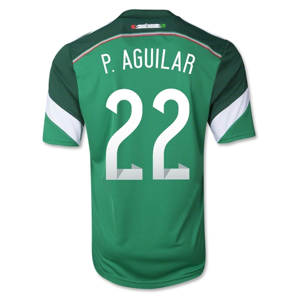 Mexico 2014 P AGUILAR 22 Home Soccer Jersey