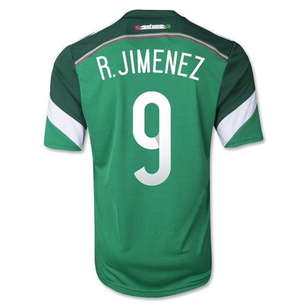 Mexico 2014 R. JIMENEZ 9 Home Soccer Jersey