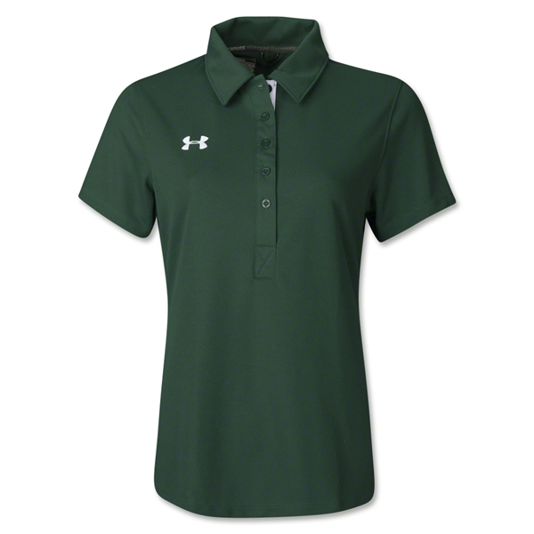 Under Armour Women's Coaches Polo II (Dark Green)