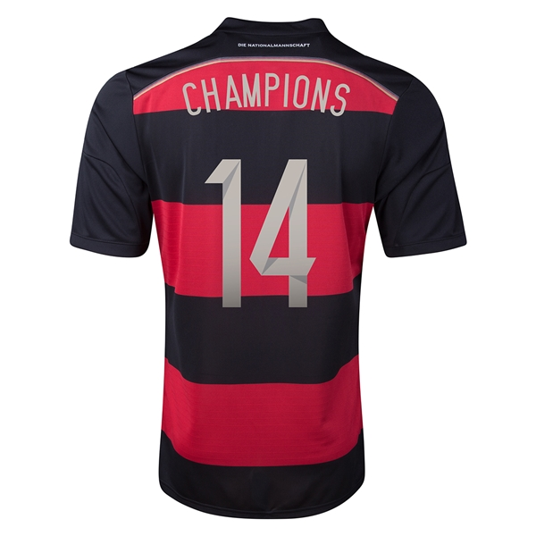 Germany 2014 CHAMPIONS Away Soccer Jersey