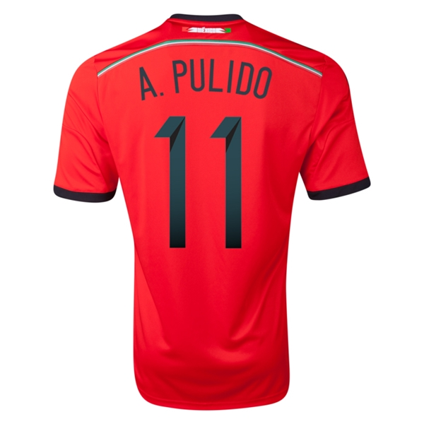 Mexico 2014 A PULIDO Away Soccer Jersey