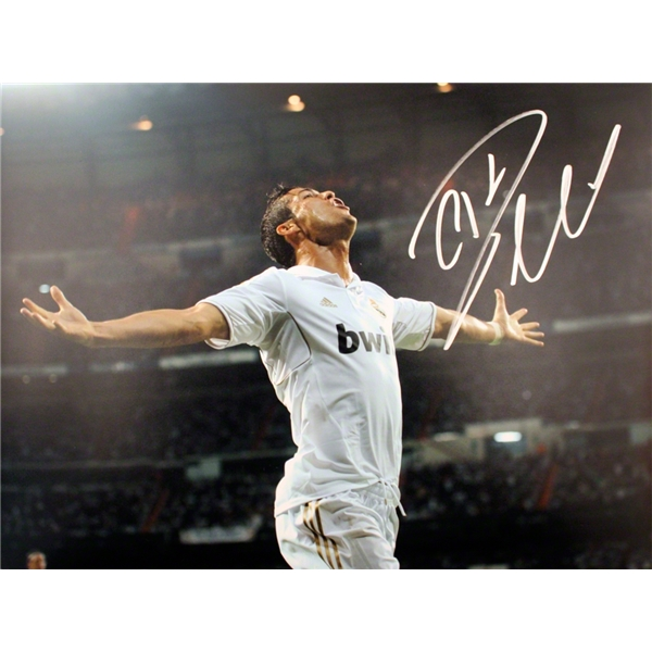 Icons Cristiano Ronaldo Signed Real Madrid Photo Bernabeu Celebration