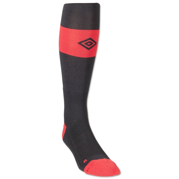 Umbro Match Sock (Black/Red)