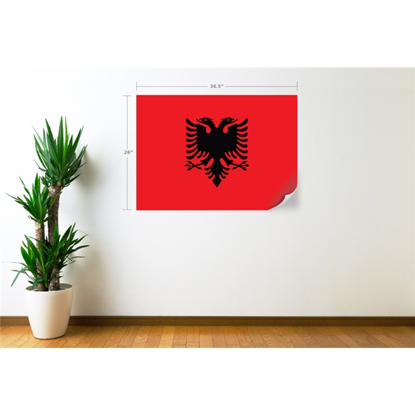 Albania Flag Wall Decal