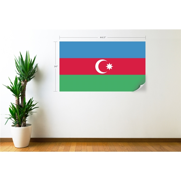 Azerbaijan Flag Wall Decal