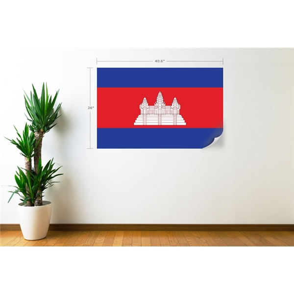 Cambodia Flag Wall Decal
