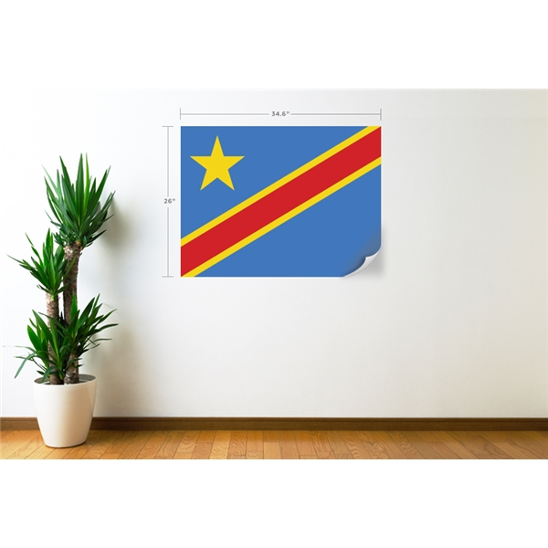 Congo DR Flag Wall Decal