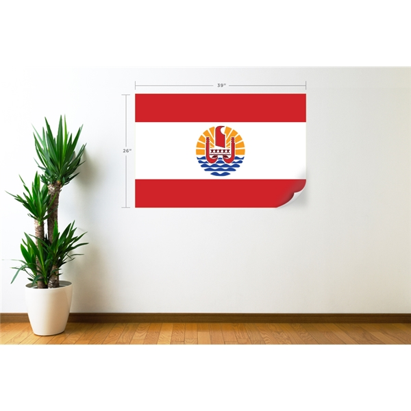 Tahiti Flag Wall Decal