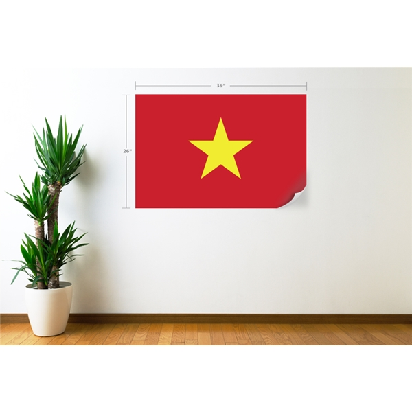 Vietnam Flag Wall Decal