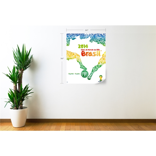 2014 FIFA World Cup Official Event Poster Wall Decal (Portuguese)