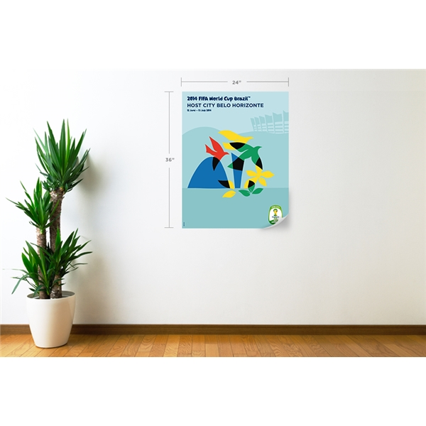 Belo Horizonte 2014 FIFA World Cup Host City Poster Wall Decal