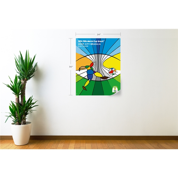 Brasilia 2014 FIFA World Cup Host City Poster Wall Decal
