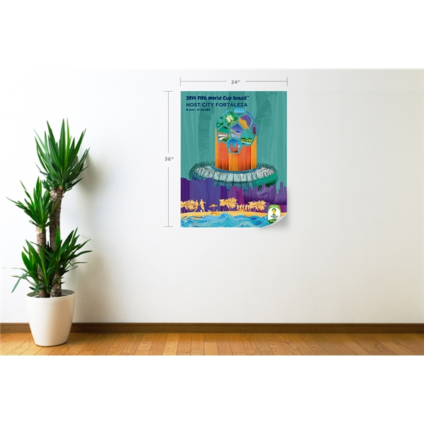 Fortaleza 2014 FIFA World Cup Host City Poster Wall Decal