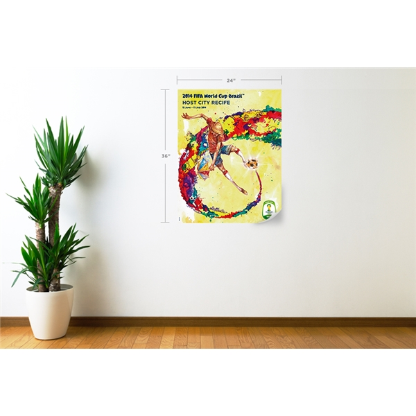 Recife 2014 FIFA World Cup Host City Poster Wall Decal