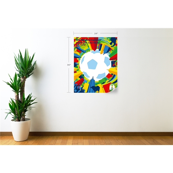 Sao Paulo 2014 FIFA World Cup Host City Poster Wall Decal