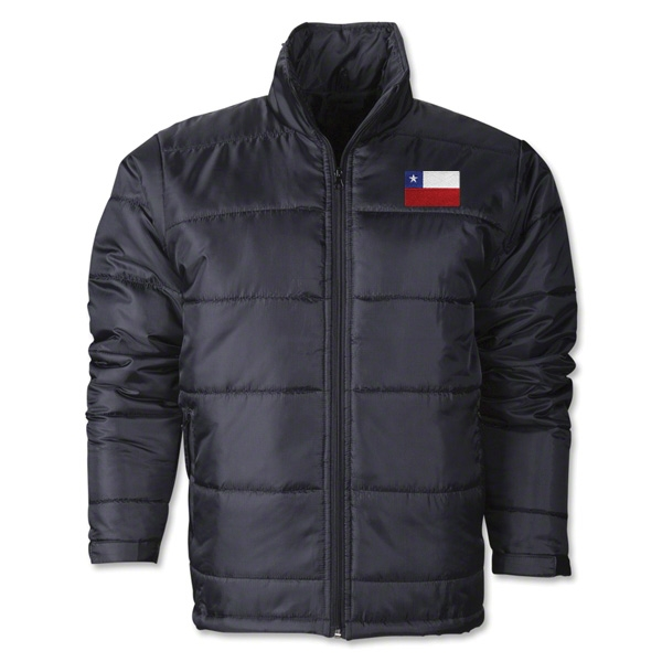 Chile Flag Polyfill Puffer Jacket