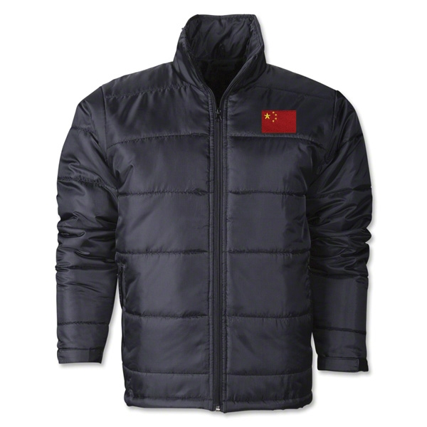 China Flag Polyfill Puffer Jacket