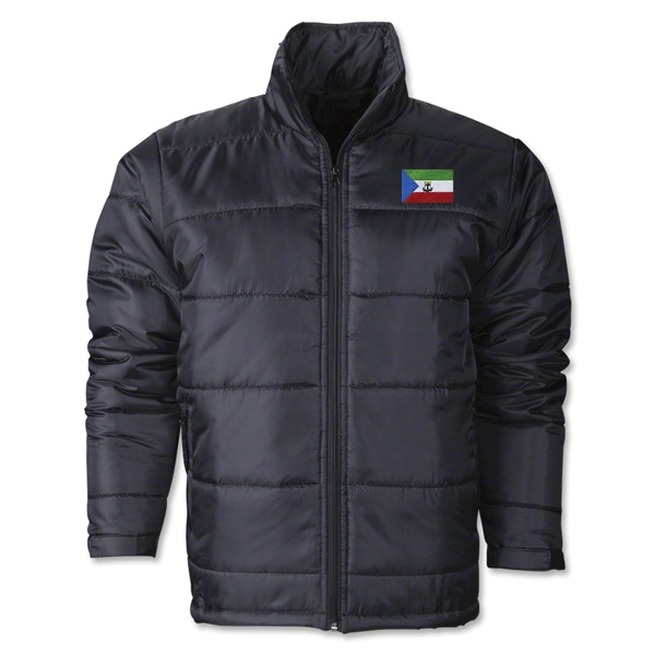 Equitorial Guinea Flag Polyfill Puffer Jacket