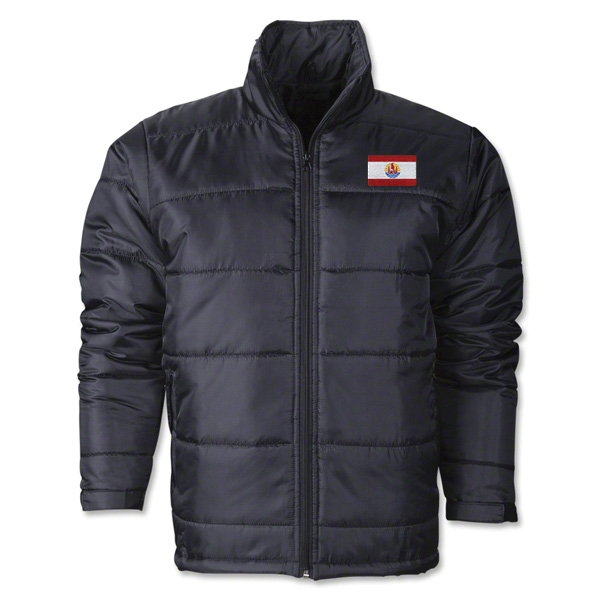 French Polynesia Flag Polyfill Puffer Jacket