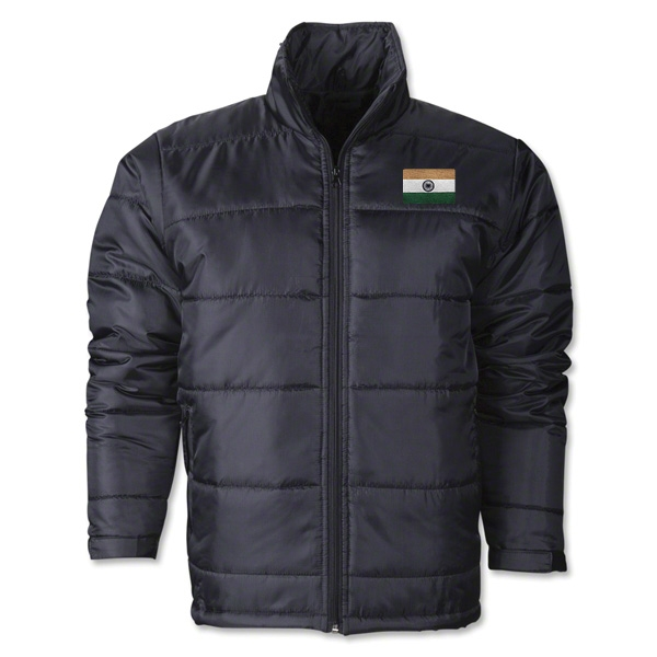 India Flag Polyfill Puffer Jacket