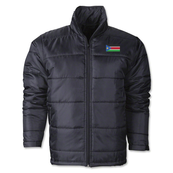 South Sudan Flag Polyfill Puffer Jacket