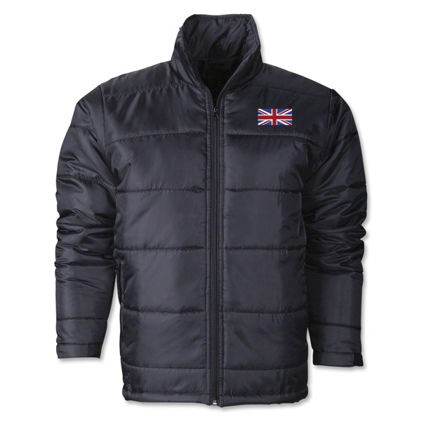 United Kingdom Flag Polyfill Puffer Jacket