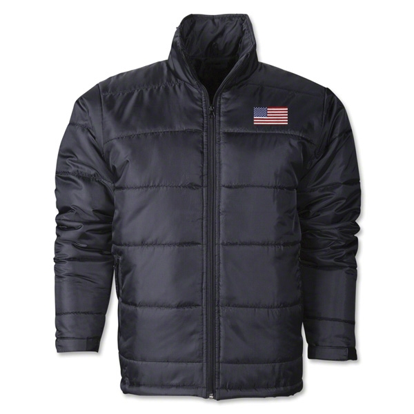USA Flag Polyfill Puffer Jacket