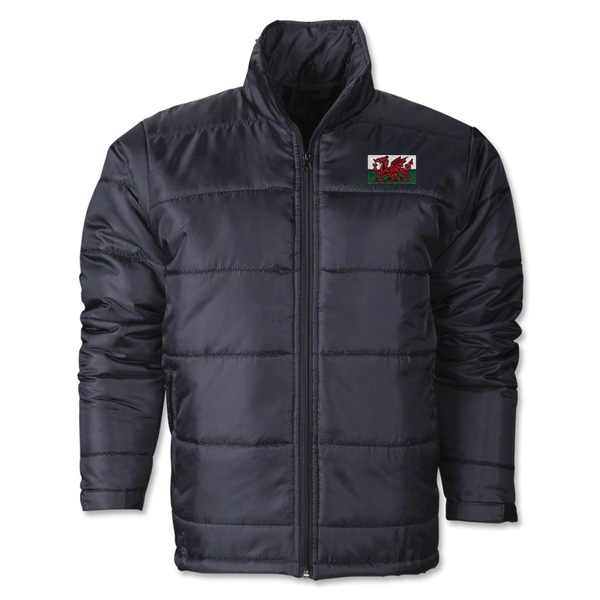 Wales Flag Polyfill Puffer Jacket