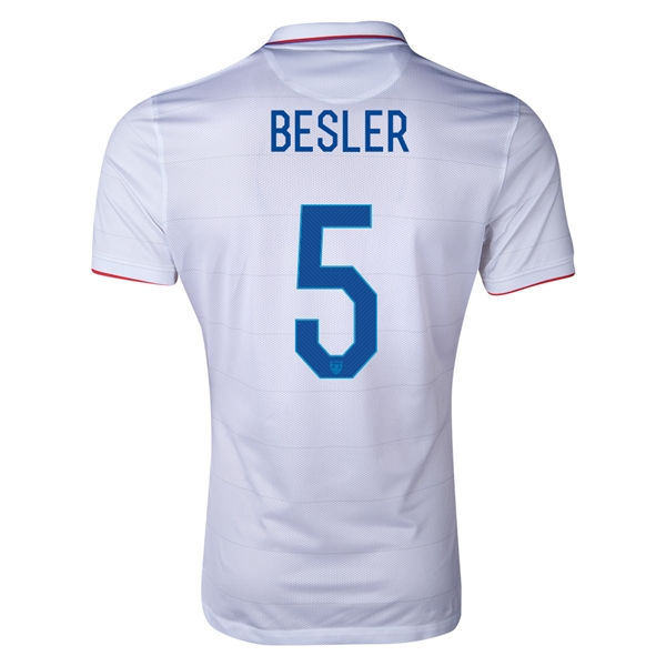 USA 14/15 BESLER Authentic Home Soccer Jersey