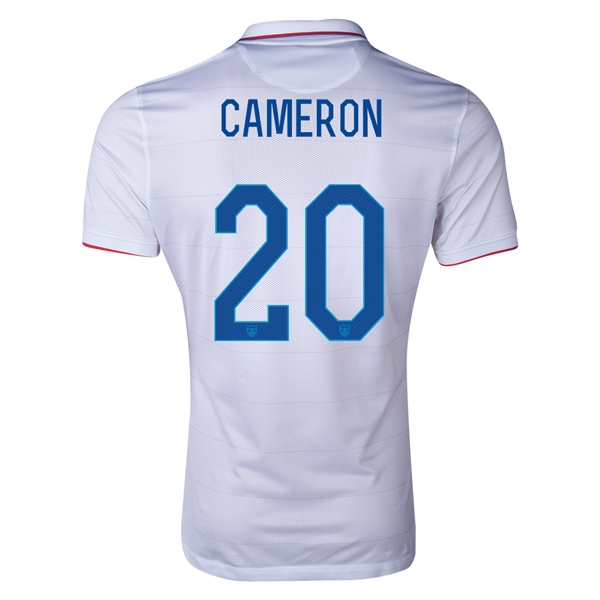 USA 2014 CAMERON Authentic Home Soccer Jersey