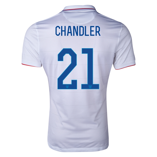 USA 14/15 CHANDLER Authentic Home Soccer Jersey