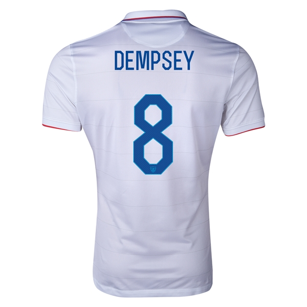USA 2014 DEMPSEY Authentic Home Soccer Jersey
