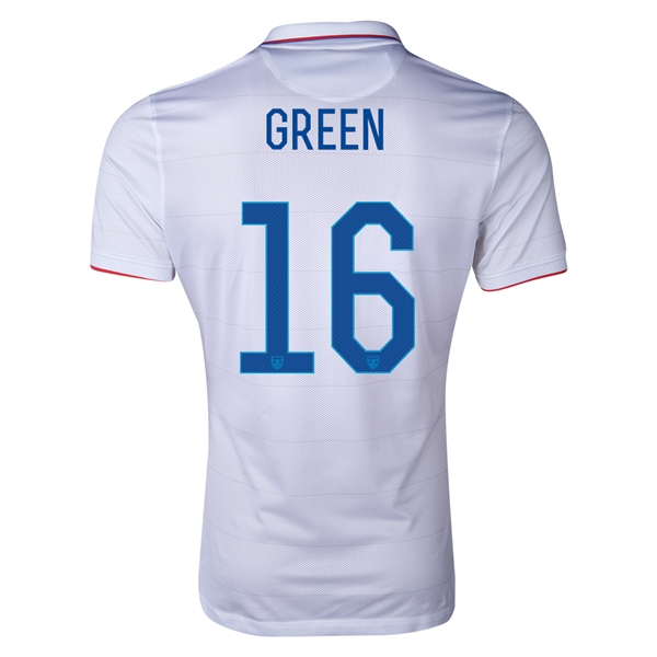 USA 2014 GREEN Authentic Home Soccer Jersey