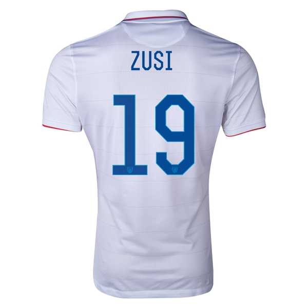 USA 2014 ZUSI Authentic Home Soccer Jersey