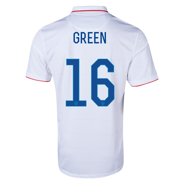 USA 14/15 GREEN Home Soccer Jersey