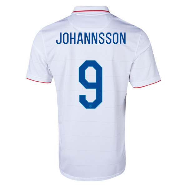USA 2014 JOHANNSSON Home Soccer Jersey